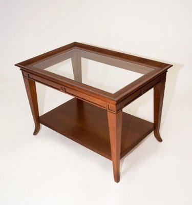 mesa ratona de madera color miel