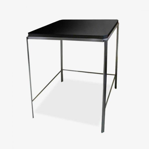 mesa auxiliar madera y acero