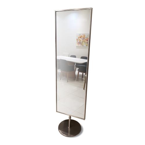 espejo de acero giratorio