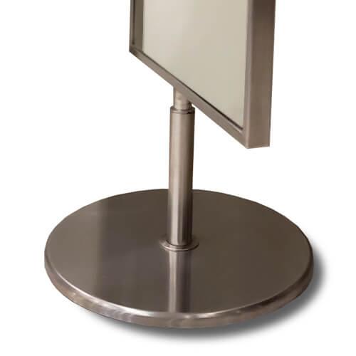 espejo de acero