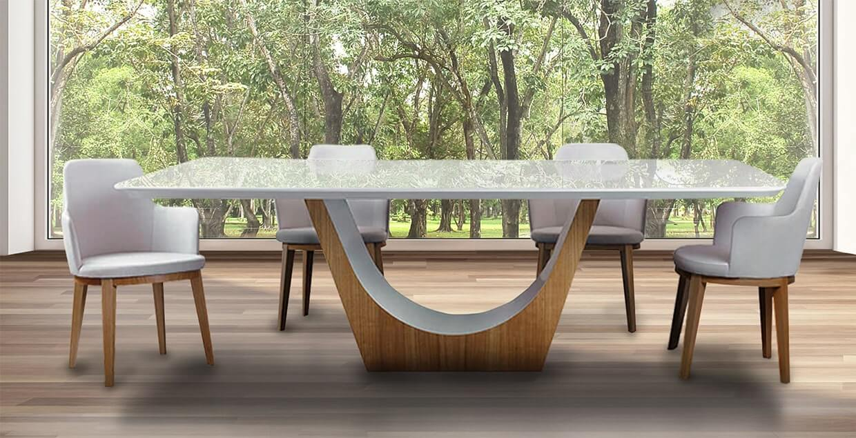 mesa Sara tapa blanca