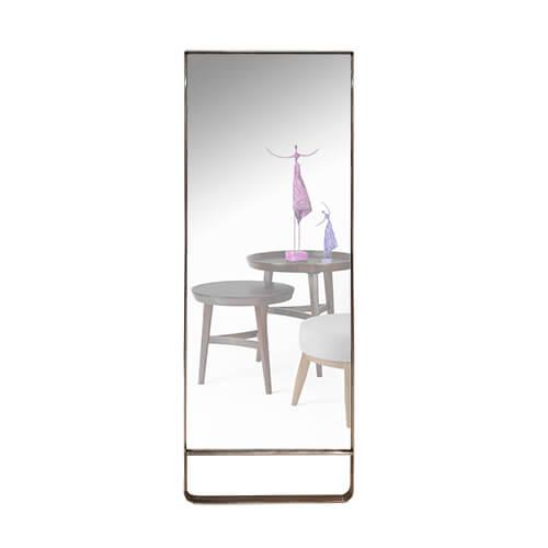 Espejo rectangular con marco de acero 210 x 80 cm