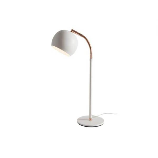 Lámpara de mesa Onion Base blanca con cobre