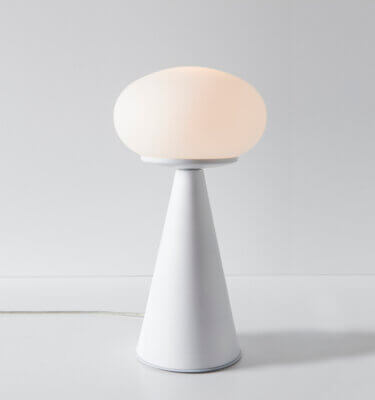 Lámpara de mesa Oskar blanca
