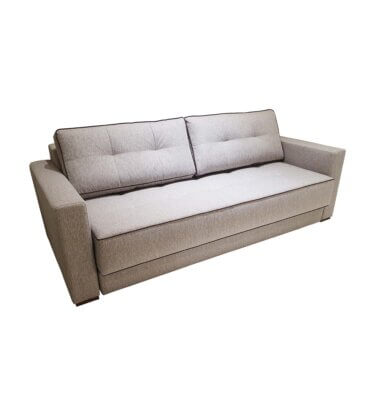 Sofá cama tapizado color visón